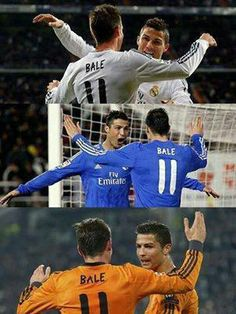 foto cr7 and bale
