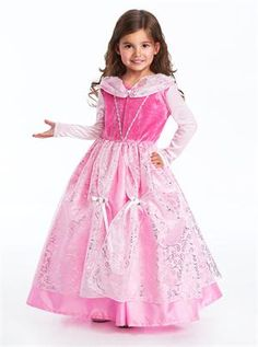 Pink Deluxe Sleeping Beauty Aurora Inspired Dress up - Machine Washable - Glitter Free Kids Dress Up Costumes, Dress Up Outfits, Girl Costumes, Disney Costumes, Halloween Costumes, Sleeping Beauty Dress, Pink Princess Dress, Princess Party, Disney Dress Up