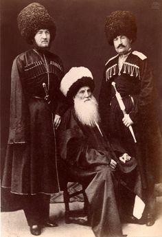 Imam Shamil with sons in honorable captivity in Russia / Имам Шамиль с сыновьями в почетном плену в России.