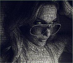 Showcase of Typography Portrait for Inspiration Photo