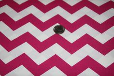 "7/8"" wide CHEVRON - Marshall Dry Goods Fabric - One Yard - Fuchsia and White - pinned by pin4etsy.com"