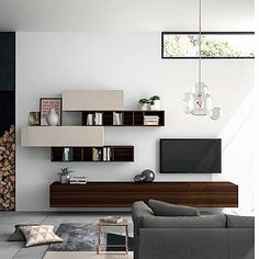 Elegant 'Wooden White' TV Unit by Dall'Agnese Modular Furniture, Furniture Plans, Contemporary Furniture, Furniture Design, White Tv Unit, Modern Tv Units, Italian Furniture Brands, Muebles Living, Living Room Tv