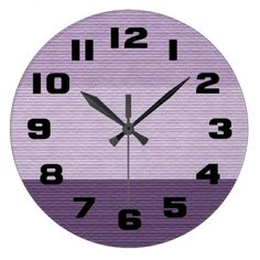 Shades of Purple Large Clock