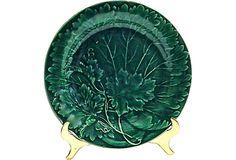 Antique Majolica Grape Leaf Dish on OneKingsLane.com