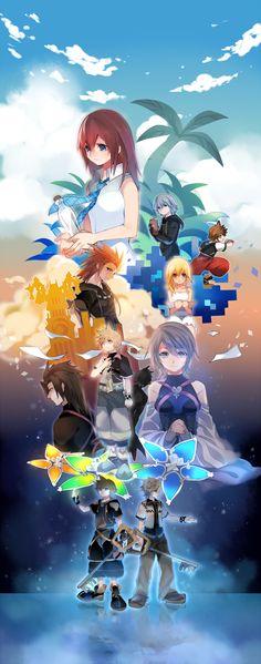 Pixiv Id 318818, SQUARE ENIX, Disney, Kingdom Hearts, Kingdom Hearts II, Kingdom Hearts: Birth by Sleep