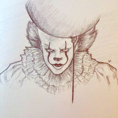 #pennywise take 2 \ new sketchbook :)  . . . . . #pencil #art #it #sketckbook #sketch #blacknwhite #clown #conceptart #charaterdesign #instapainting #painting #instaart #instaartist #fanart #streetart #draw #instagood #pictureoftheday #artistic #pencilart