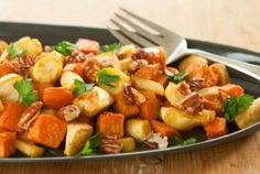 Roasted Parsnips and Sweet Potatoes with Honey-Pecan Drizzle | Whole Foods Market