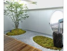 japanese modern garden: