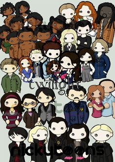 Love this character drawing of The Twilight characters