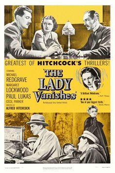 La dama desaparece (1938) es una pelicula britanica dirigada por Alfred Hitchcock. Es basada en la novela The Wheel Spins.