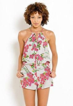 Women's #Fashion #Clothing Parker Halter Romper in White and Pink Asian Floral