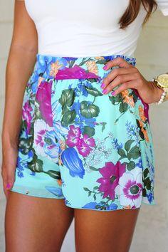 Botanical Gardens High Waisted Shorts