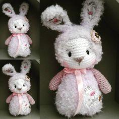 """496 Me gusta, 18 comentarios - Marleen's by Daniela Groß (@marleensmadeforyou) en Instagram: """"Kuschel wuschel Zuckerschnute für meine süße @crazy_inked_pierced ... #crochet #bunnylove #hase…"""""""
