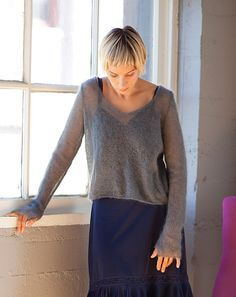 Ravelry: Rossi Silk Cloud pattern by Leigh Radford ........ this pattern uses .......... Shibui Knits Silk Cloud Yarn weight Lace / 2 ply / USEFUL INFO