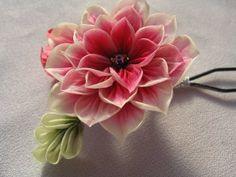 Cloth Flowers, Fabric Flowers, Fabric Origami, Paper Ribbon, Wonderful Flowers, Kanzashi Flowers, Resin Flowers, Ribbon Work, Handmade Flowers