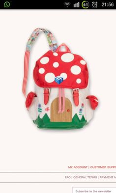 Oilily red white dots backpack