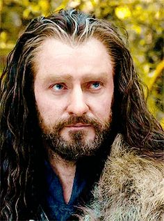 "(gif) ""There is this antagonistic relationship between Thorin and Gandalf. I think Thorin is trying to prove that Gandalf isn't correct, and most of his assumption is that he's trying to usurp his leadership. When Gandalf isn't there, Thorin really becomes a leader, and when he turns up, he has to be subservient, and it's not something that he likes at all.""   — Richard Armitage"