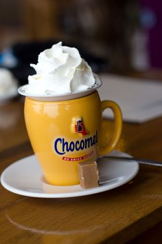 Oh chocomel YUM!!!! Its similar to chocolate milk, but not really! Its SOOO much better. If you've never had it you are missing out on life.