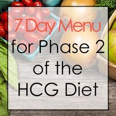 Need a little help planning out meal on the HCG Diet? This is a great resource.