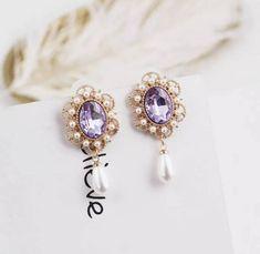 Tassel Earing, Crystal Crown, Makes You Beautiful, Fashion Rings, Sapphire, Pandora, Stud Earrings, Fashion Outfits, Jewels
