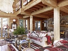The Utah Home Of Buffy Birrittella - Gravity Home Native American Decor, Cabin Chic, Gravity Home, Log Home Decorating, Cozy Apartment, Stockholm Apartment, Western Homes, Rustic Homes, Cabin Interiors