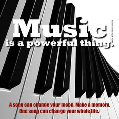 Music is powerful!!