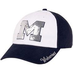 '47 Brand Michigan Wolverines Ladies Sparkle Adjustable Hat - Navy Blue