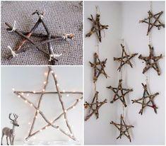 Estrellas de Navidad caseras. Crea la mejor decoración para estas fiestas
