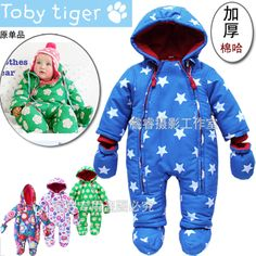 Winter models male and female baby leotard Romper thick padded cotton Ha crawling newborn baby clothes climbing clothes $33.00 - 42.99