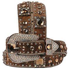 Nocona Ladies Rhinestone Western Belt....@BETSEY LUKENS SHEAFFER :-) we need to get you a big sparkly belt!