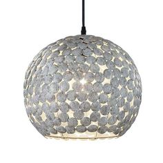 ca, antyczny szary - FS INSPIRE Christmas Bulbs, Applique, Ceiling Lights, Holiday Decor, Pendant, Boutique, Gray, Silver Color, Exposed Beams