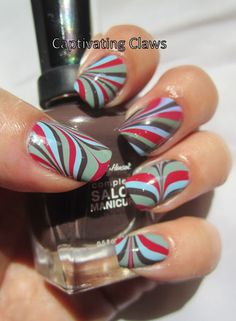 Captivating Claws: water marble