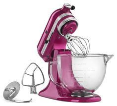 KitchenAid Artisan® Design Series 5 Quart Tilt-Head Stand Mixer with Glass Bowl Kitchen - Small Appliances - Macy's Batedeira Kitchenaid Artisan, Kitchenaid Stand Mixer, Artisan Mixer, Kitchenaid Classic, Small Kitchen Appliances, Kitchen Aid Mixer, Kitchen Gadgets, Kitchen Stuff, Kitchen Aide
