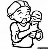 Eating Ice Cream Coloring Page