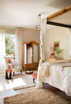 Italian farm house bedroom