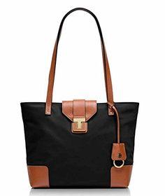 cd8efe62bae Amazon.com  Tory Burch Penn Mini Tote - Black Luggage  Clothing