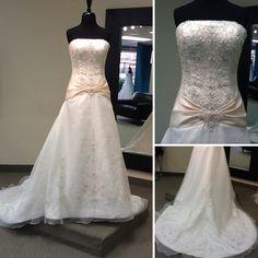 Da Vinci wedding dress with sash