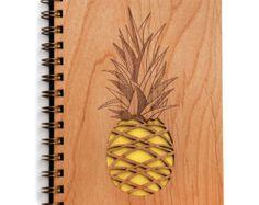 Desert Garden botanische Lasercut hout Journal door Cardtorial