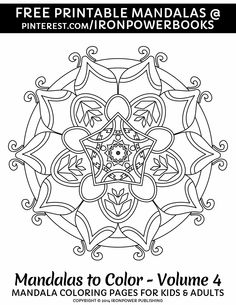 Fun coloring this summer with this FREE printable Mandala Coloring Pages | For a paperback copy visit http://www.amazon.com/Mandalas-Color-Mandala-Coloring-Adults/dp/1496033418 | Please use freely for personal non-commercial use