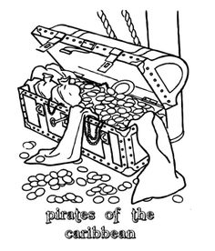 treasure chest lock coloring pages - photo#45