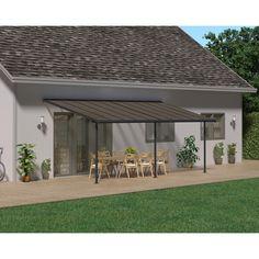 Palram Pergola en Aluminium et Polycarbonate Capri 18 m² Aluminum Patio Covers, Polycarbonate Roof Panels, Capri, Roof Colors, Roof Styles, Outdoor Living, Outdoor Decor, Outdoor Seating, Leroy Merlin