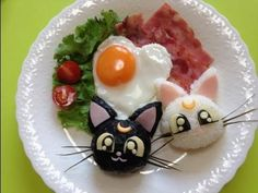 HOw to make plate of Luna&Artemis from Sailor Moon