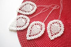 Crochet Christmas ornaments Hanging Christmas by Edangra on Etsy