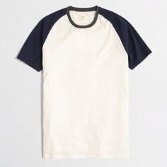 <ul><li>Cotton/poly.</li><li>Regular fit.</li><li>Rib trim at neck.</li><li>Machine wash.</li><li>Import.</li></ul>