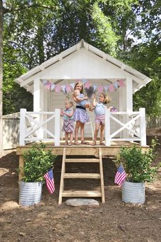 These Garden Shed Ideas Will Add Tons of Charm to Your Backyard garden shed ideas kids Backyard Playhouse, Build A Playhouse, Backyard Playground, Backyard For Kids, Playhouse Ideas, Playhouse Interior, Backyard Fort, Backyard Storage, Playground Design