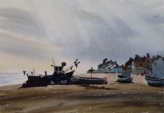 Late Afternoon At Aldeburgh by Tony Knight winner of the Great Art Award