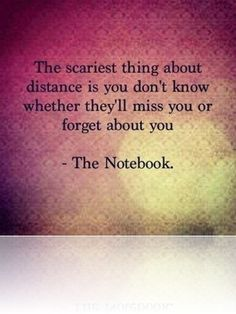 The scariest thing about distance » Sad and Love Picture
