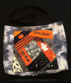 Tote bag made with the first crazy quilt block I embellished. -Renee @ Living My Dream