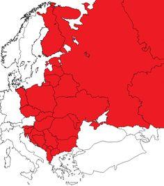 """Zasięg kulturalny i historyczny """"Słowiańszczyny"""" oraz krajów Bałtów-Istów """"braci Słowian""""."""