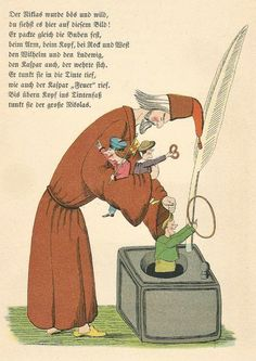 Illustration by Heinrich Hoffman in his book Struwwelpeter from an Ephemera Grab Bag on Children's Book Illustrations.